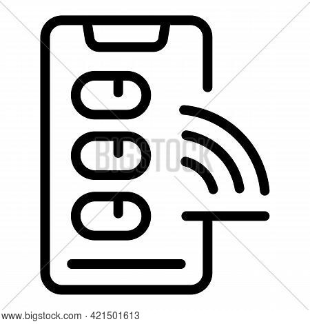 Wifi Phone Icon. Outline Wifi Phone Vector Icon For Web Design Isolated On White Background