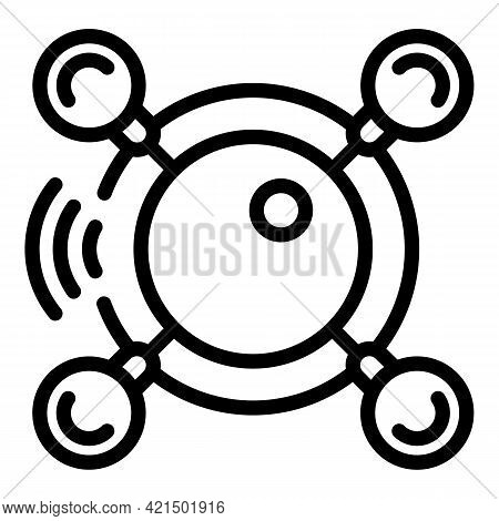 Wireless Technology Icon. Outline Wireless Technology Vector Icon For Web Design Isolated On White B