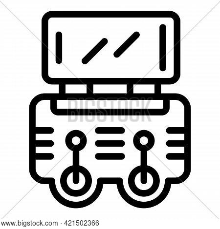 Drone Control Icon. Outline Drone Control Vector Icon For Web Design Isolated On White Background