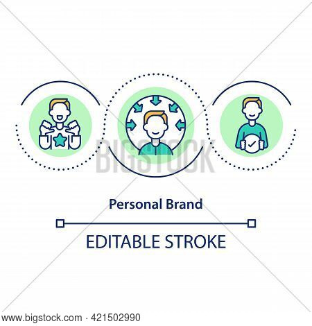 Personal Brand Concept Icon. Online Promotion. Increase Brand Identity Awareness. Social Media Marke