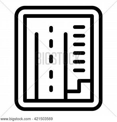 Autonomous Map Car Icon. Outline Autonomous Map Car Vector Icon For Web Design Isolated On White Bac