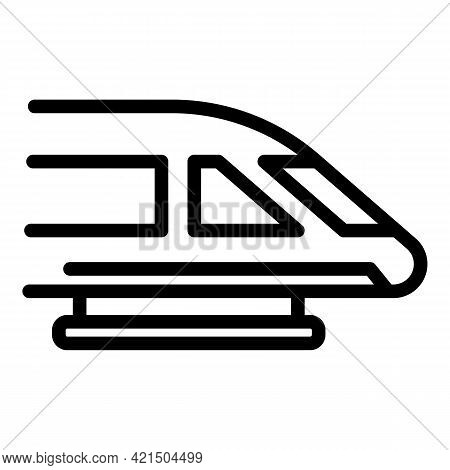 Express Train Icon. Outline Express Train Vector Icon For Web Design Isolated On White Background