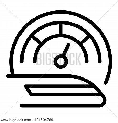 Public Fast Train Icon. Outline Public Fast Train Vector Icon For Web Design Isolated On White Backg