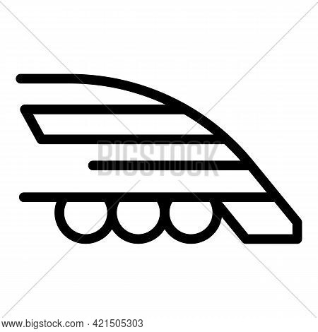 Urban Express Train Icon. Outline Urban Express Train Vector Icon For Web Design Isolated On White B