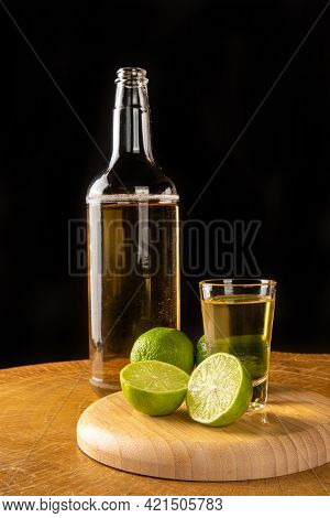 Brazilian Drink Known As Cachaça, Drink From Sugar Cane. It Is Used In The Preparation Of The Caipir