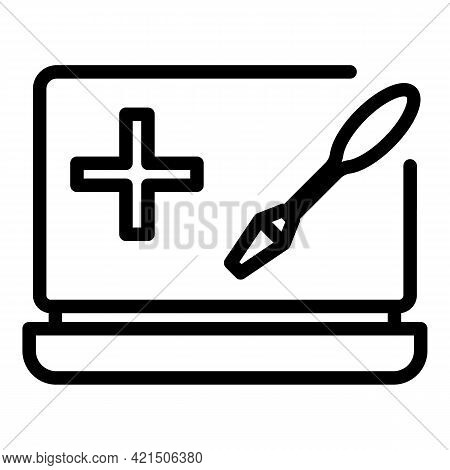 Fixing Laptop Icon. Outline Fixing Laptop Vector Icon For Web Design Isolated On White Background