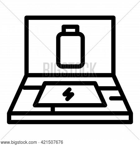 Battery Hardware Icon. Outline Battery Hardware Vector Icon For Web Design Isolated On White Backgro