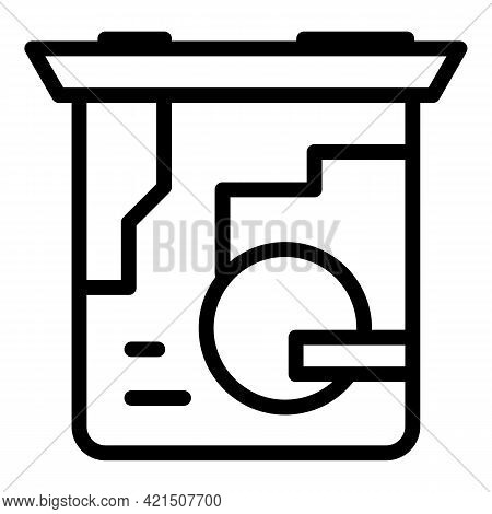 Laptop Processor Icon. Outline Laptop Processor Vector Icon For Web Design Isolated On White Backgro