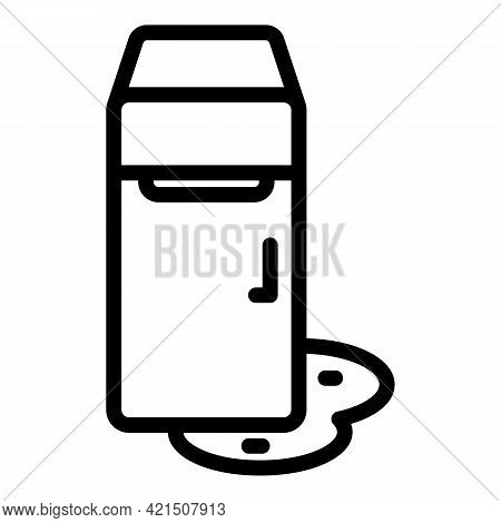 Melting Refrigerator Icon. Outline Melting Refrigerator Vector Icon For Web Design Isolated On White