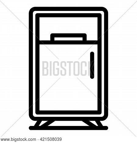 Maintenance Refrigerator Icon. Outline Maintenance Refrigerator Vector Icon For Web Design Isolated