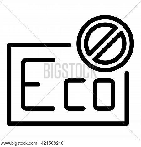Damaged Freezer Icon. Outline Damaged Freezer Vector Icon For Web Design Isolated On White Backgroun