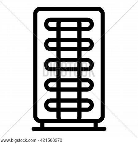 Fridge Chiller Icon. Outline Fridge Chiller Vector Icon For Web Design Isolated On White Background
