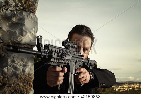 Contract Killer Agent Character