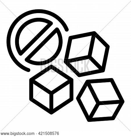 Fridge Ice Icon. Outline Fridge Ice Vector Icon For Web Design Isolated On White Background