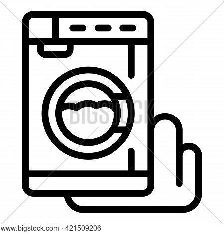 Damaged Washing Machine Icon. Outline Damaged Washing Machine Vector Icon For Web Design Isolated On