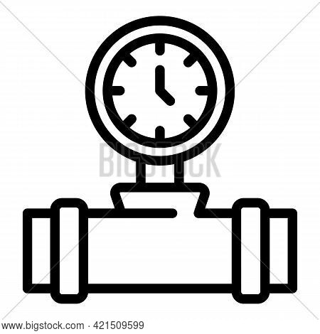 Pressure Tap Icon. Outline Pressure Tap Vector Icon For Web Design Isolated On White Background