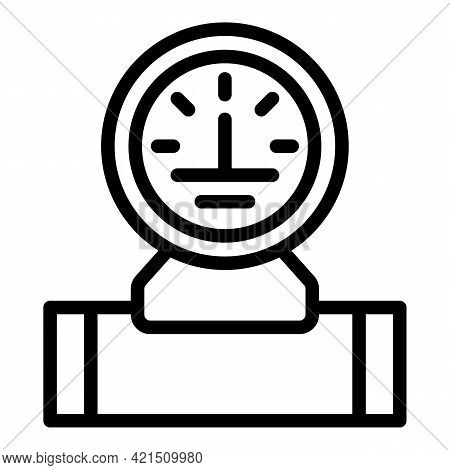 Pressure Water Meter Icon. Outline Pressure Water Meter Vector Icon For Web Design Isolated On White