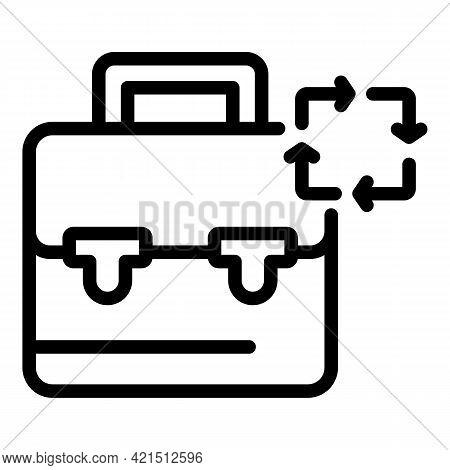 Work Regeneration Icon. Outline Work Regeneration Vector Icon For Web Design Isolated On White Backg