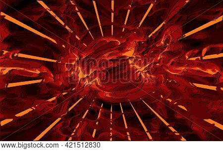 Abstract Space Wallpaper. Sun Rays In Outer Space, Carved Layered Papercut With Shadows. 3d Renderin