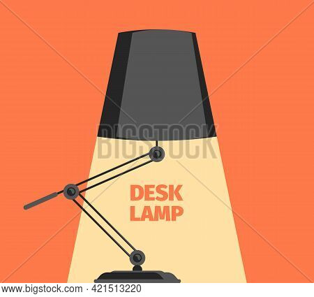 Stylized Lamp. Decorative Stylized Silhouettes Of Desk Standing Lamp With Glowing Lights Garish Vect