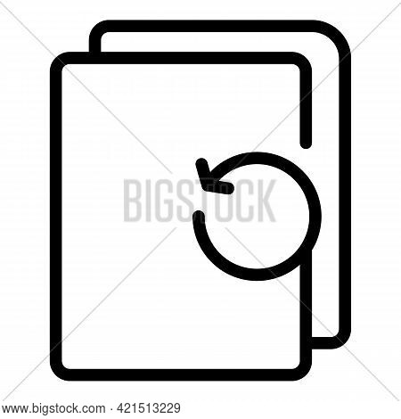 Files Backup Icon. Outline Files Backup Vector Icon For Web Design Isolated On White Background