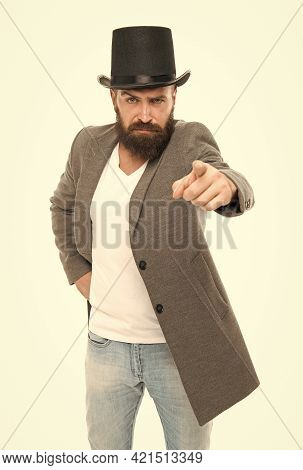 I Will Show You Real Magic. Street Performance. Circus Worker. Hocus Pocus. Man Bearded Guy Magician