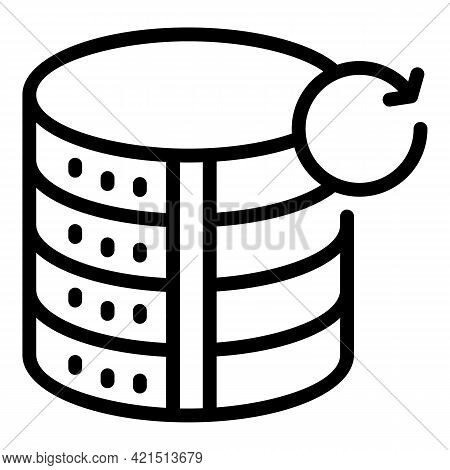 Server Update Icon. Outline Server Update Vector Icon For Web Design Isolated On White Background