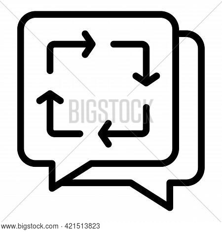 Messages Backup Icon. Outline Messages Backup Vector Icon For Web Design Isolated On White Backgroun