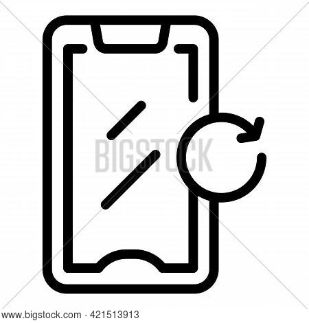 Device Update Icon. Outline Device Update Vector Icon For Web Design Isolated On White Background