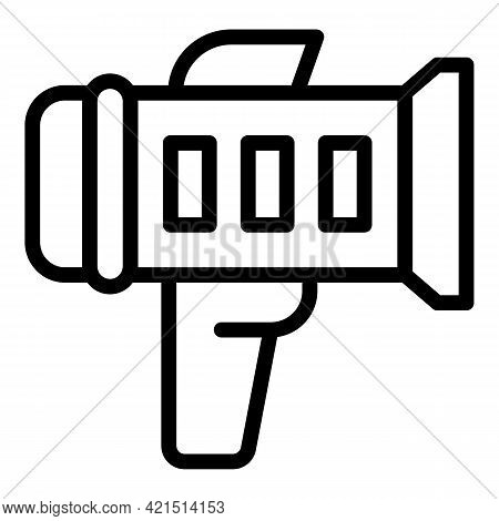 Speed Camera Icon. Outline Speed Camera Vector Icon For Web Design Isolated On White Background
