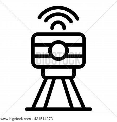 Speed Control Radar Icon. Outline Speed Control Radar Vector Icon For Web Design Isolated On White B