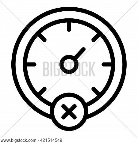 Speed Car Limit Icon. Outline Speed Car Limit Vector Icon For Web Design Isolated On White Backgroun