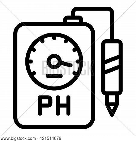 Analysis Ph Meter Icon. Outline Analysis Ph Meter Vector Icon For Web Design Isolated On White Backg