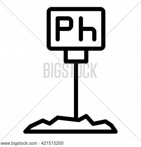 Soil Ph Meter Icon. Outline Soil Ph Meter Vector Icon For Web Design Isolated On White Background