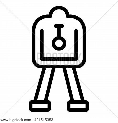 Laser Meter Device Icon. Outline Laser Meter Device Vector Icon For Web Design Isolated On White Bac