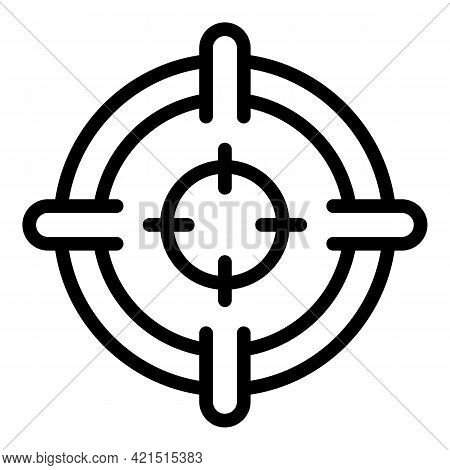 Laser Meter Focus Icon. Outline Laser Meter Focus Vector Icon For Web Design Isolated On White Backg