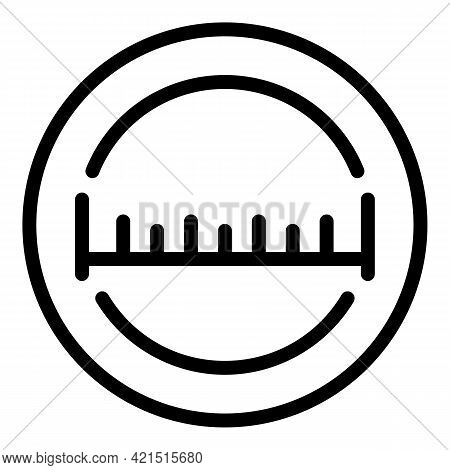 Digital Tape Measure Icon. Outline Digital Tape Measure Vector Icon For Web Design Isolated On White