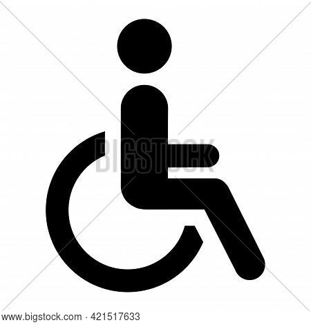 Abstract Plates Toilet For Disabled People - Vector Illustration