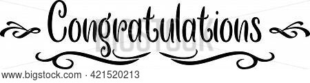 Congratulation Scroll Banner Classic Elegant Design Graphic