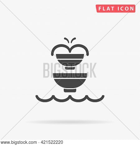 Fountain Flat Vector Icon. Hand Drawn Style Design Illustrations.