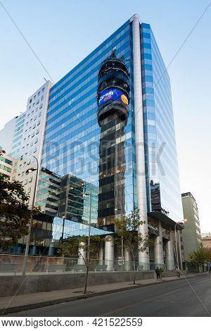 Santiago De Chile, Region Metropolitana, Chile, South America - February 12, 2017: The Iconic Entel