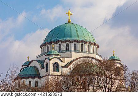 Saint Sava Orthodox Christian Church In Belgrade Serbia
