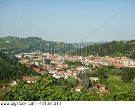 An Urban Landscape Of A Langhe Village: Santo Stefano Belbo, Piedmont - Italy