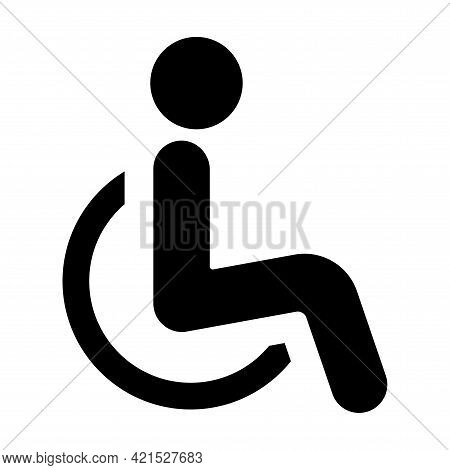 The International Symbol Of Access Of A Person In A Wheelchair