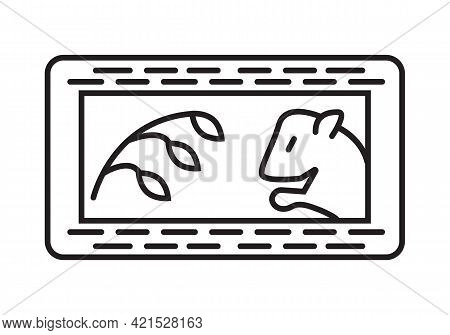 Hay For Rodents Icon Vector. Oats, Grain, Wheat, Corn, Rye For Rats