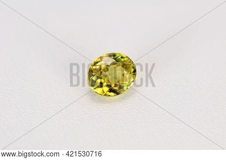 Natural Unheated Lemon Greenish Yellow Colored Clean Mali Garnet Loose Faceted Gemstone. Small Yello