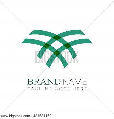 Creative Saudi Arabia Palm Tree Icon Logo Design Vector Illustration