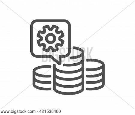 Making Money Line Icon. Budget Gain Sign. Money Working Symbol. Quality Design Element. Linear Style