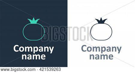 Logotype Tomato Icon Isolated Logotype Background. Logo Design Template Element. Vector