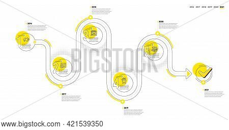 Infographic Timeline With Icons And 5 Steps. Buying Process With Numbers. Infographics Business Conc